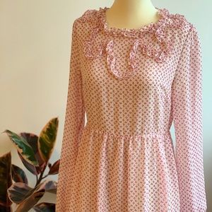 Pretty pink patterned dress